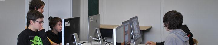L'Etablissement scolaire vaudois de Moudon intègre les MITIC dans l'enseignement quotidien.