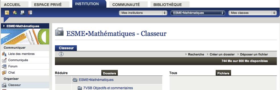 Classeur Groupe
