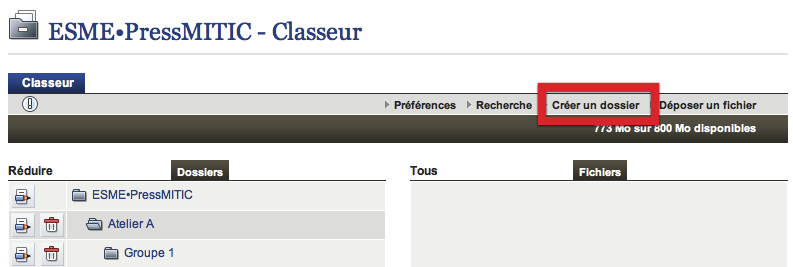 Classeur Institution